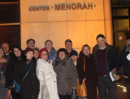 Ярмарка информаций в центре Менора