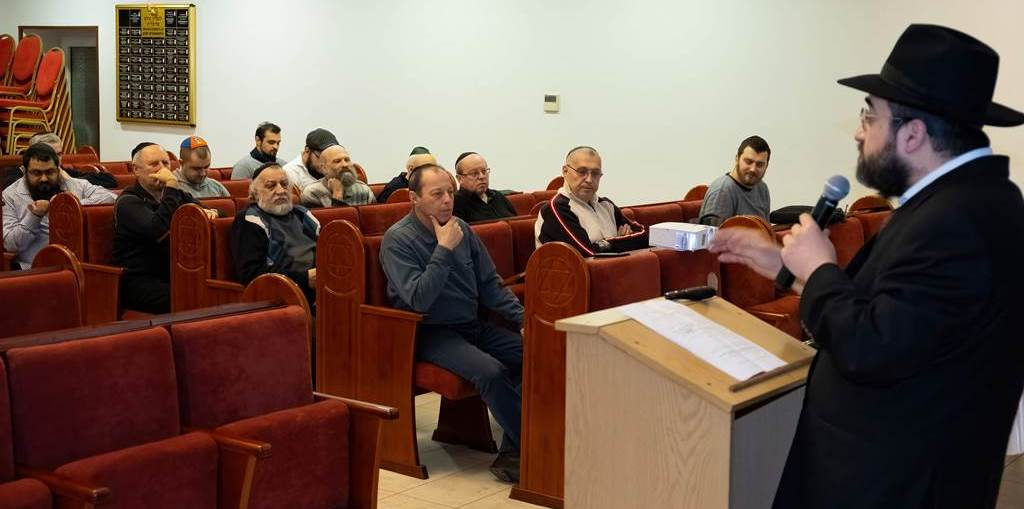 Лекция и фарбренген с реб Менделом Тайхманом